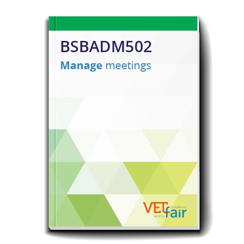 BSBADM502 Manage meetings