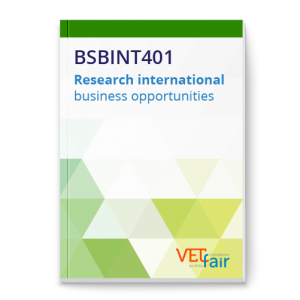BSBINT401 Research international business opportunities