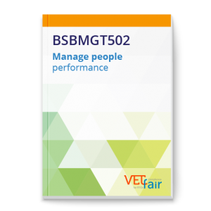 BSBMGT502 Manage people performance